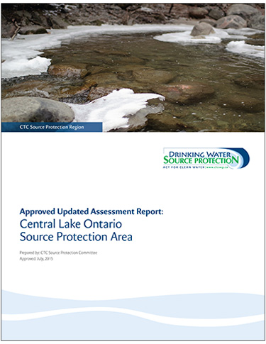 cover page of Central Lake Ontario Source Protection Area updated assessment report
