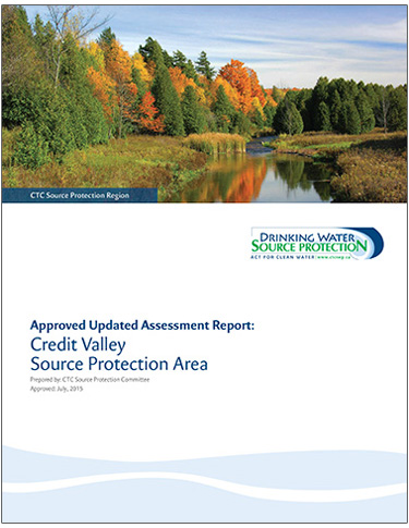 cover page of Credit Valley Source Protection Area updated assessment report