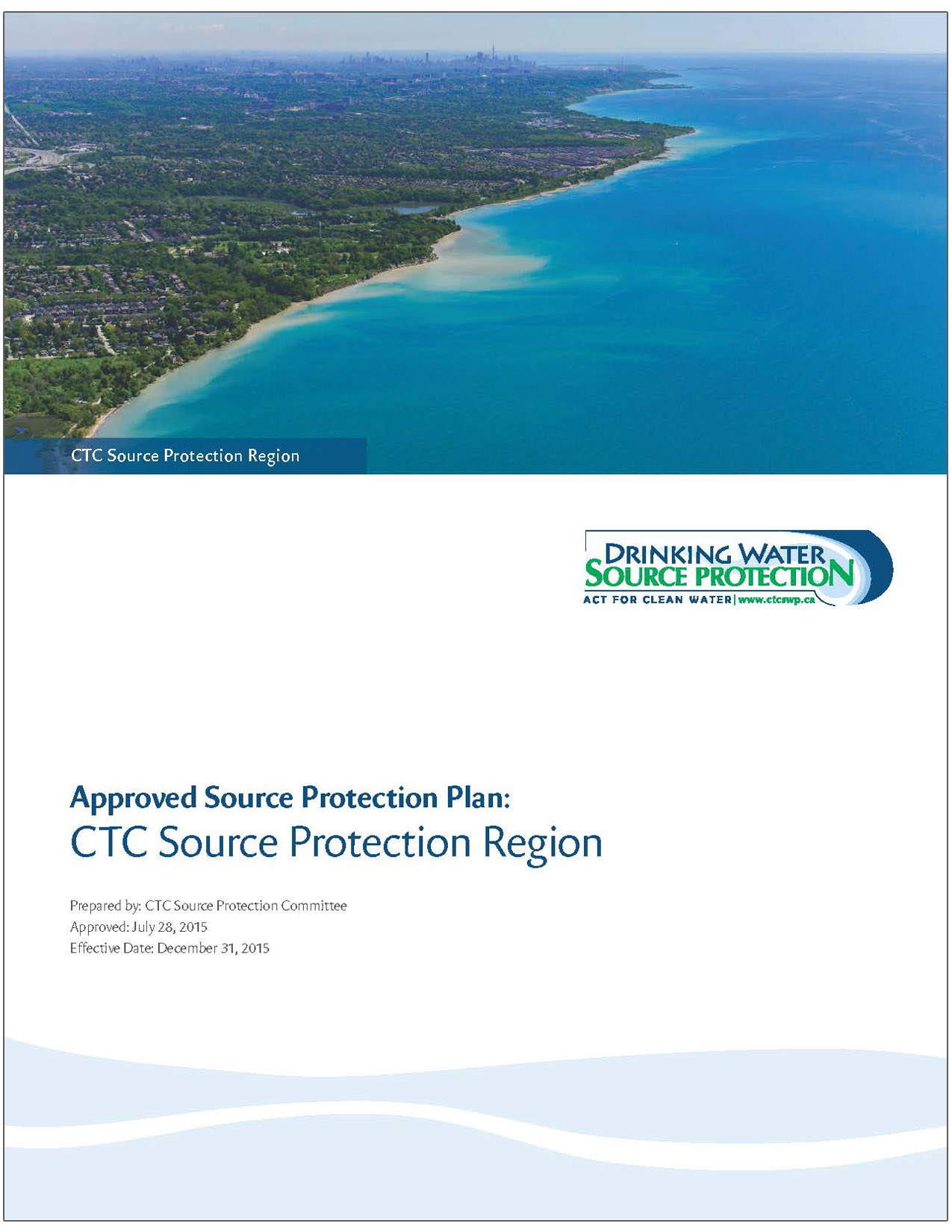 cover of CTC Region approved source protection plan