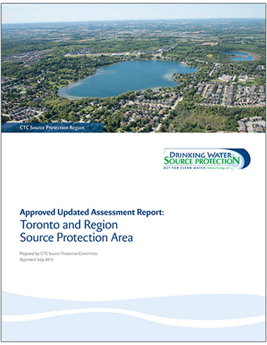 cover page of Toronto Region Source Protection Area updated assessment report
