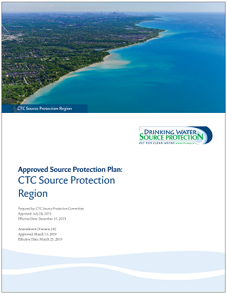 cover of CTC Region amended source protection plan