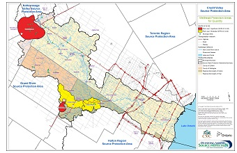 Credit Valley Source Protection Area Wellhead Protection Areas for Quantity