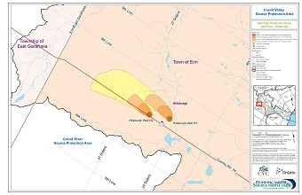 Credit Valley Source Protection Area Wellhead Protection Areas - Hillsburgh