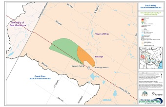 Credit Valley Source Protection Area Groundwater Vulnerability of WHPAs - Hillsburgh