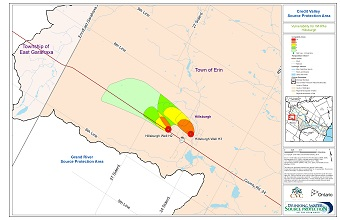 Credit Valley Source Protection Area Vulnerability for WHPAs - Hillsburgh