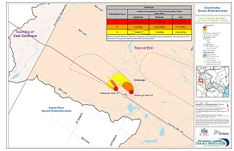 Areas of Significant Moderate or Low Threats in Hillsburgh - Chemical