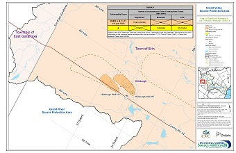 Credit Valley Source Protection Area: Areas of Significant, Moderate or Low Threats in Hillsburgh - DNAPLs