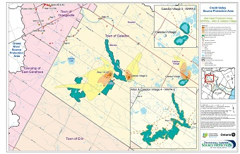 Credit Valley Source Protection Area Well Head Protection Areas - Alton and Caledon Village