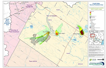 Credit Valley Source Protection Area Vulnerability Scores for WHPAs - Alton and Caledon Village