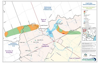 Credit Valley Source Protection Area Groundwater Vulnerability of WHPAs - Mono