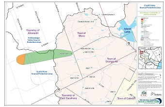 Credit Valley Source Protection Area Groundwater Vulnerability of WHPAs - Amaranth