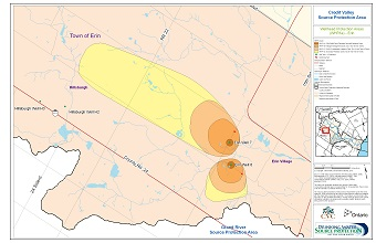 Credit Valley Source Protection Area Wellhead Protection Areas - Erin