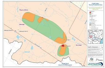 Credit Valley Source Protection Area Groundwater Vulnerability of WHPAs - Erin