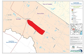 Credit Valley Source Protection Area Groundwater Vulnerability of WHPAs - Bel-Erin