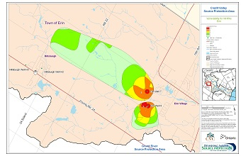 Credit Valley Source Protection Area Vulnerability for WHPAs - Erin