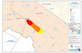 Credit Valley Source Protection Area Vulnerability for WHPAs - Bel-Erin