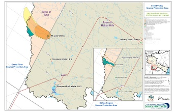 Credit Valley Source Protection Area Well Head Protection Areas - Acton - 4th Line Well