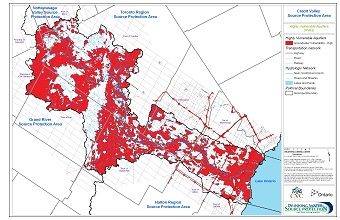 Credit Valley Source Protection Area Highly Vulnerable Aquifers