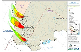 Credit Valley Source Protection Area Vulnerability Scores for WHPAs - Acton