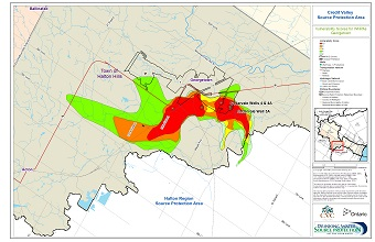 Credit Valley Source Protection Area Vulnerability Scores for WHPAs - Georgetown