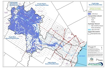 Credit Valley Source Protection Area Significant Groundwater Recharge Areas