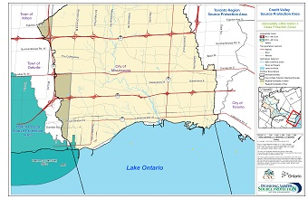 Credit Valley Source Protection Area Vulnerability within Halton 3 Intake Protection Zones