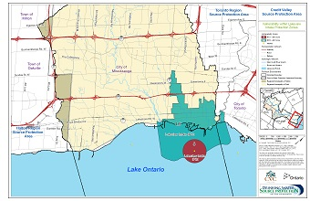 Credit Valley Source Protection Area: Vulnerability within Lakeview Intake Protection Zones