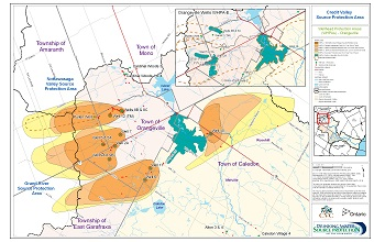 Credit Valley Source Protection Area Wellhead Protection Areas - Orangeville