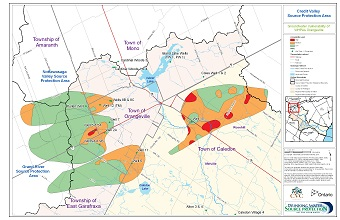 Credit Valley Source Protection Area Groundwater Vulnerability of WHPAs - Orangeville