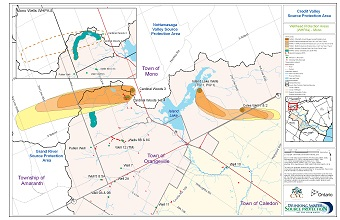 Credit Valley Source Protection Area Wellhead Protection Areas - Mono