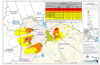 Areas of Significant Moderate or Low Threats in Orangeville - Chemical