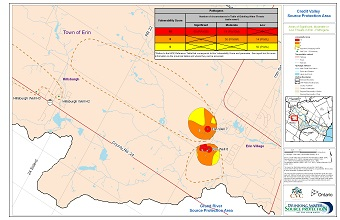 Areas of Significant Moderate or Low Threats in Erin - Pathogens