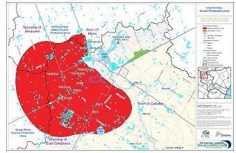 Water Budget Quantity Risk Areas - Orangeville Mono and Amaranth