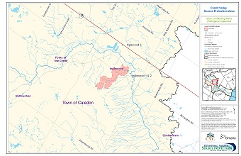 Credit Valley Source Protection Area Issue Contributing Areas - Pathogens - Inglewood