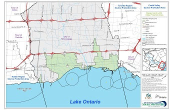 Credit Valley Source Protection Area: Managed Lands within Intake Protection Zones