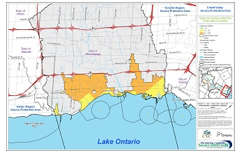 Credit Valley Source Protection Area Impervious Surface within IPZs - Road Network Density