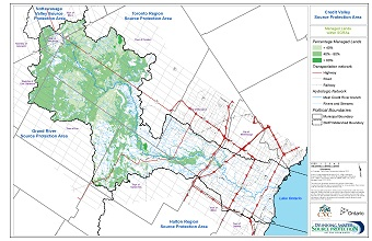 Credit Valley Source Protection Area - Managed Lands within SGRAs