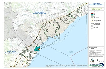 Credit Valley Source Protection Area Intake Protection Zones - Lorne Park Intake
