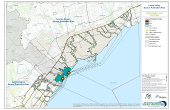 Credit Valley Source Protection Area Intake Protection Zones - Peel Intakes