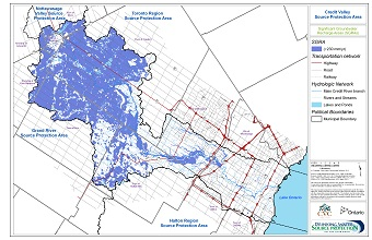 Credit Valley Source Protection Area: Significant Groundwater Recharge Areas