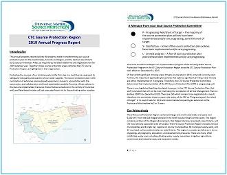 CTC Source Protection Region 2019 Annual Progress Report